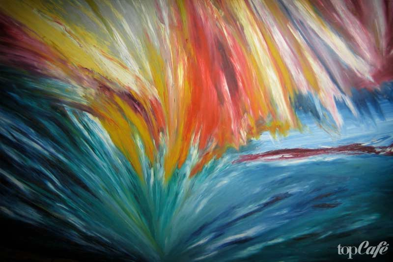 Finger Painting Mary Barnes