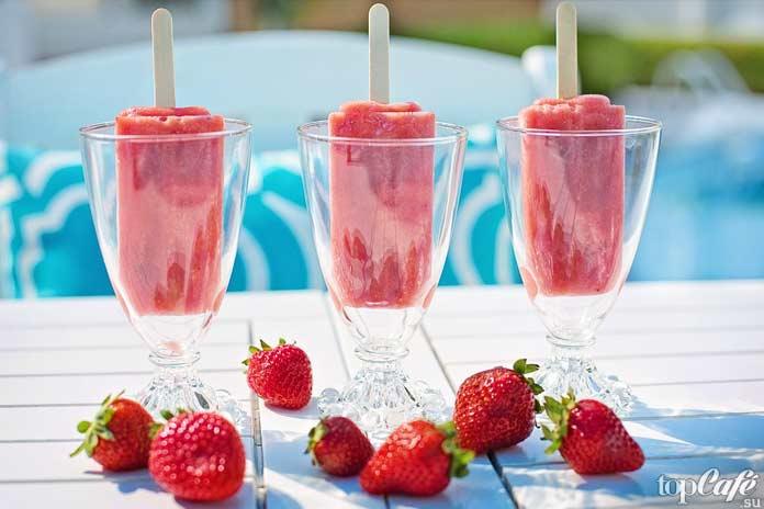 Клубничное мороженое. CC0