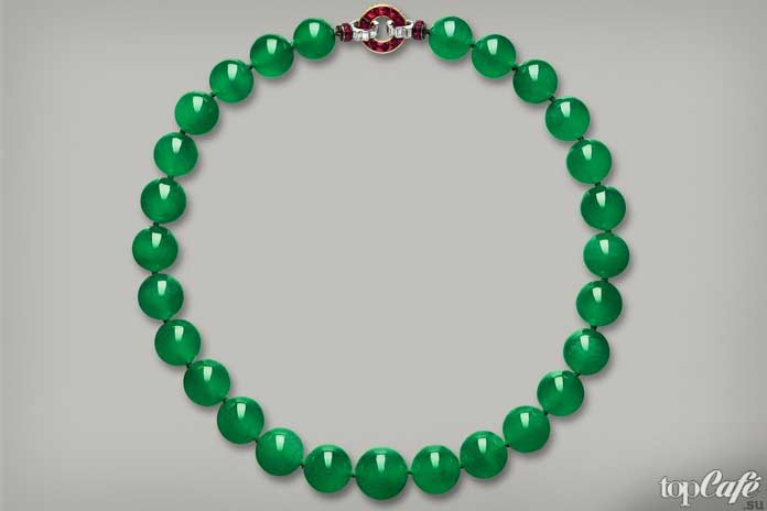 Hutton-Mdivani Jadeite Necklace