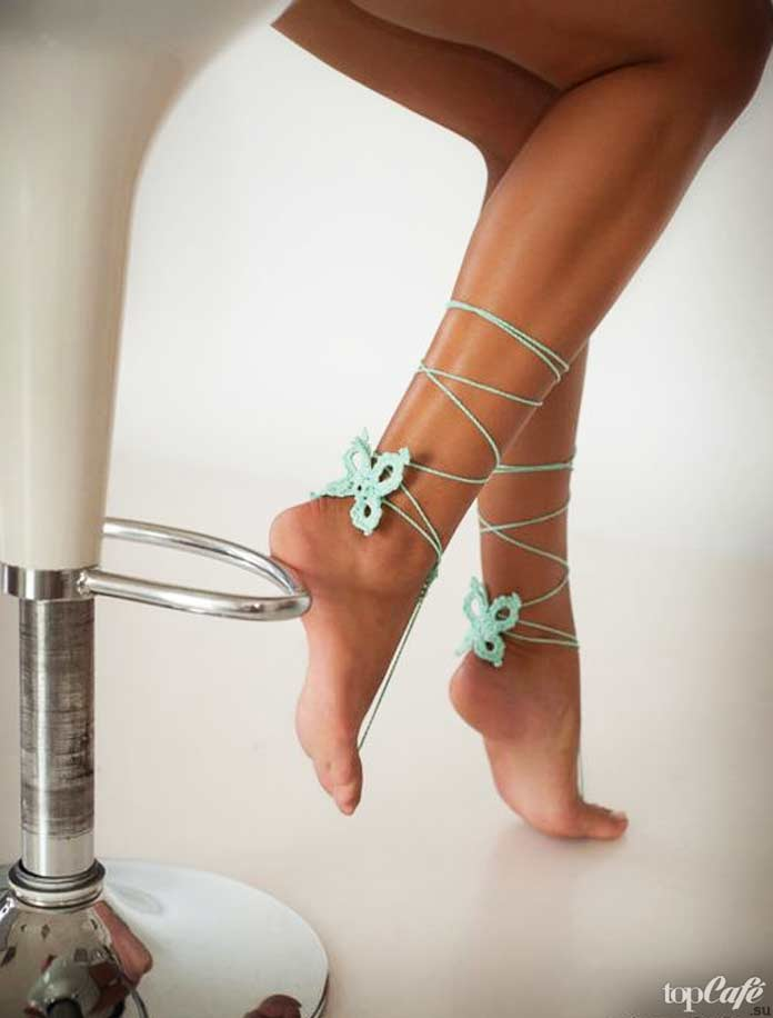 Бабочки для ног