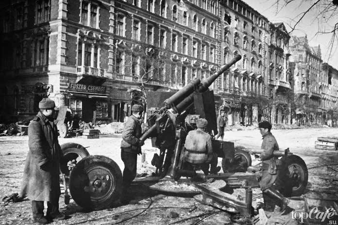 Советские солдаты в Будапеште