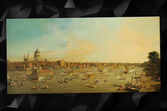 The Thames on Lord Mayor's Day, Antonio Canaletto