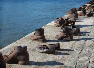 Памятник холокосту в Будапеште