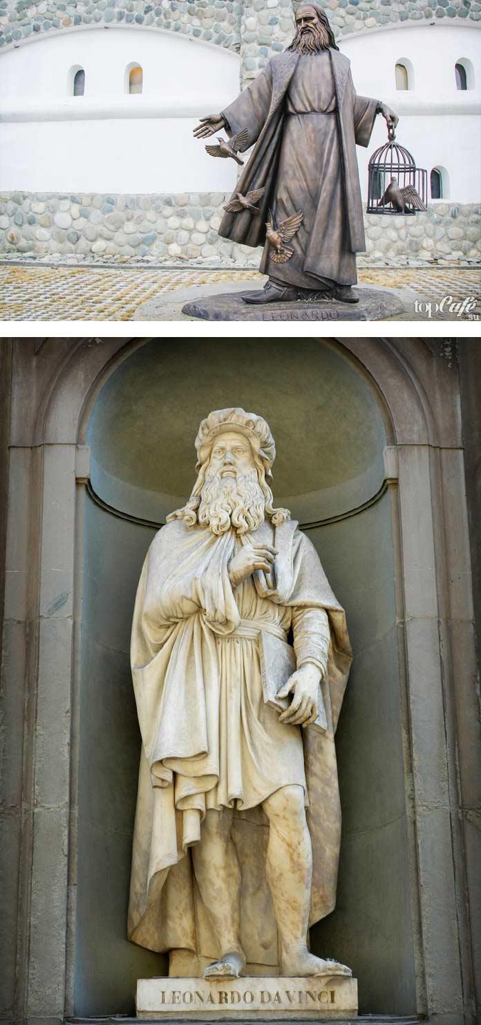 Скульптуры Да Винчи
