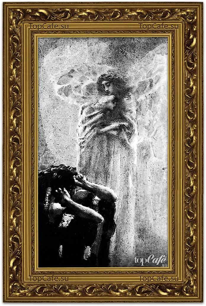 Самые знаменитые картины Врубеля: Демон и Ангел с душой Тамары (1891)