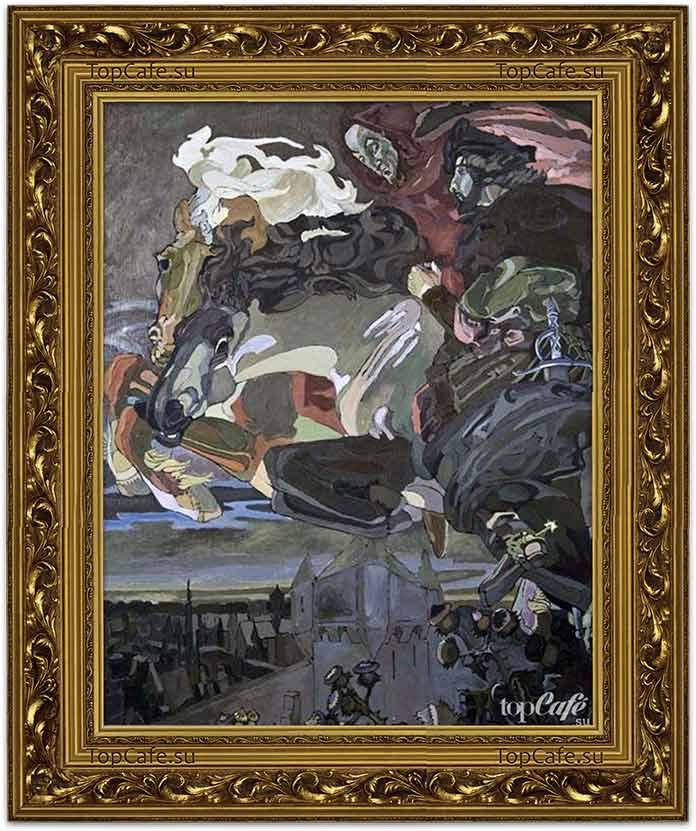 Самые знаменитые картины Врубеля: Полёт Фауста и Мефистофеля (1886)
