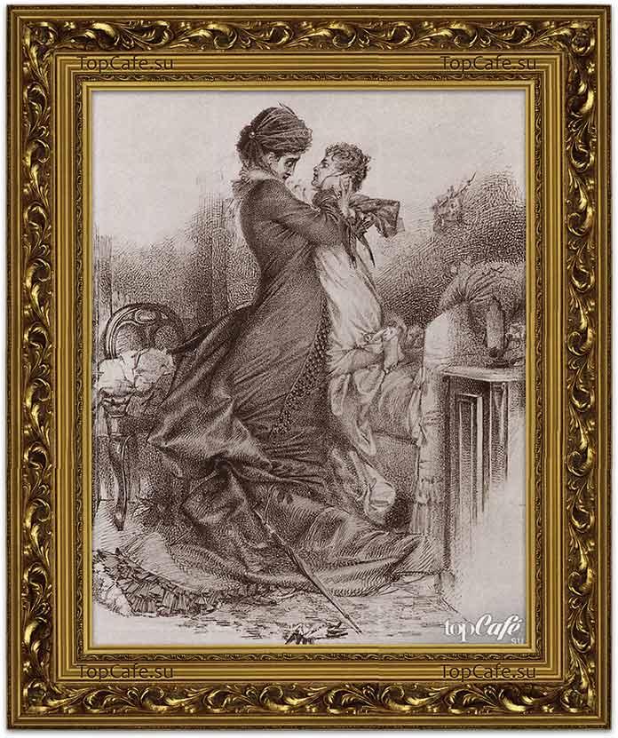 Самые знаменитые картины Врубеля: Свидание Анны Карениной с сыном (1878)