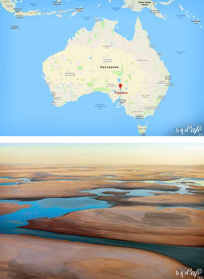 озеро Торренс. Самые красивые озёра в Австралии