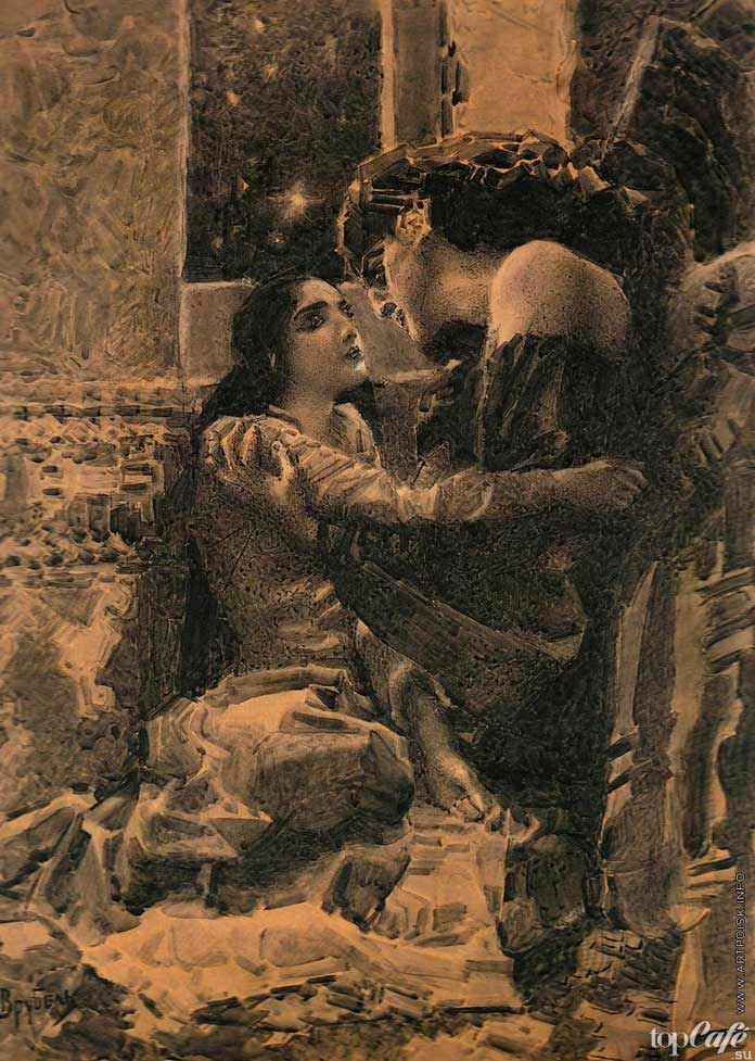 Знаменитые картины Врубеля: Тамара и Демон. 1891