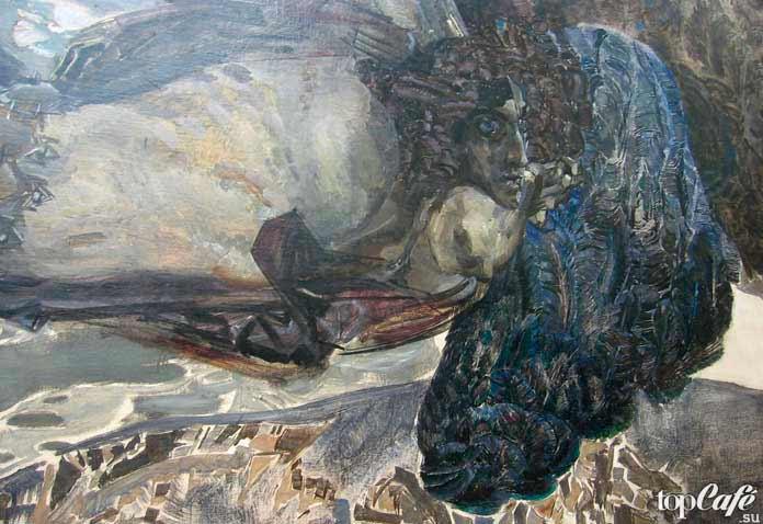 Знаменитые картины Врубеля: Демон летящий. 1899