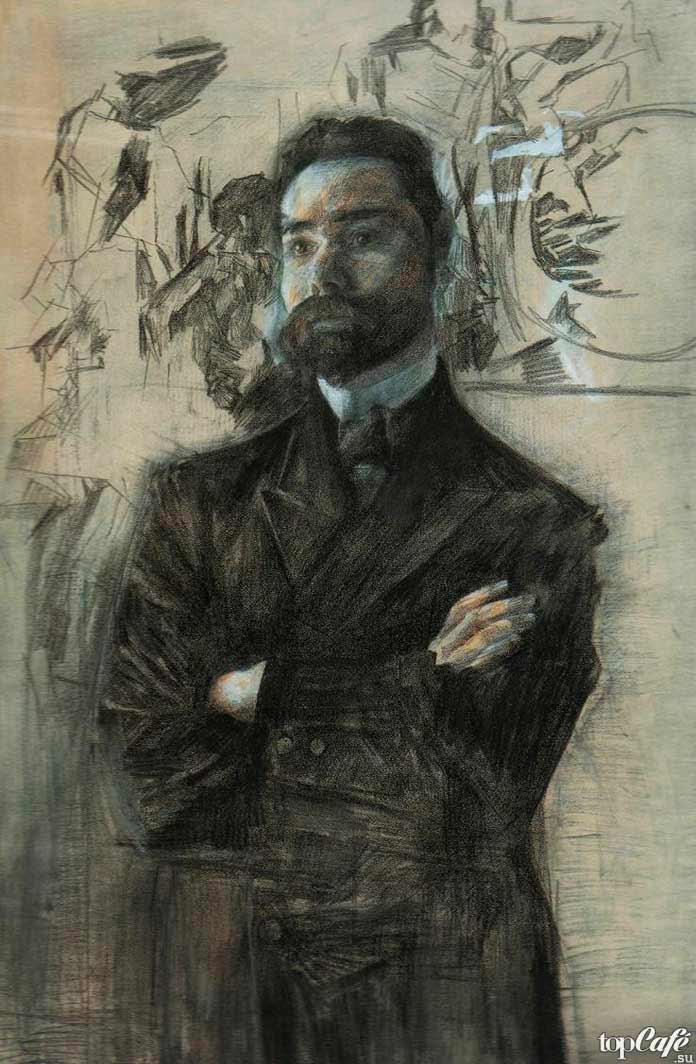 Знаменитые картины Врубеля: Портрет Брюсова. 1906