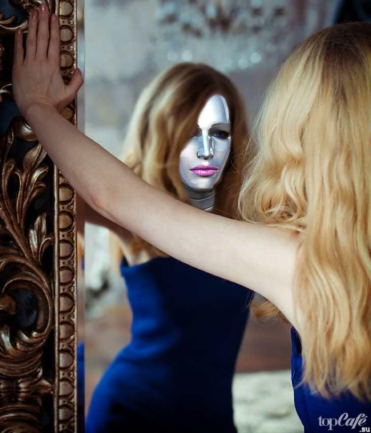 Девушка и Зеркало. Cc0