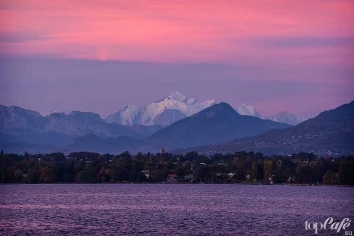 Красивое женевское озеро