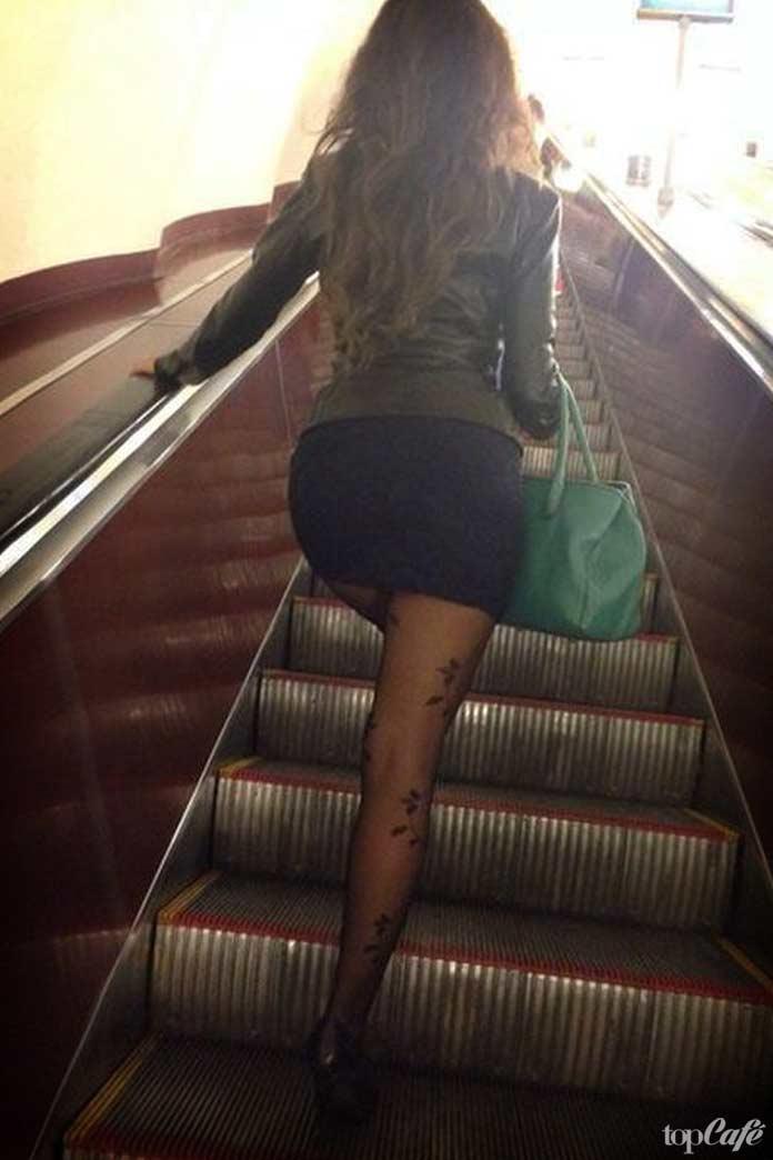 Фотографии женщин в метро: Красивый эскалатор