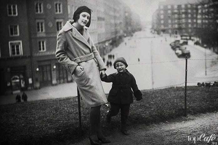 Астрид Линдгрен с сыном