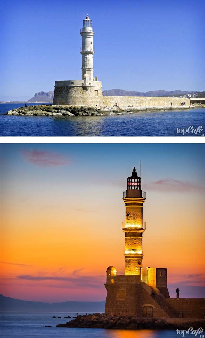 Красивый маяк Chania