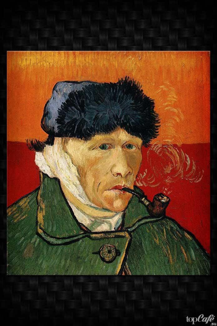 Автопортрет с перевязанным ухом. Ван Гог