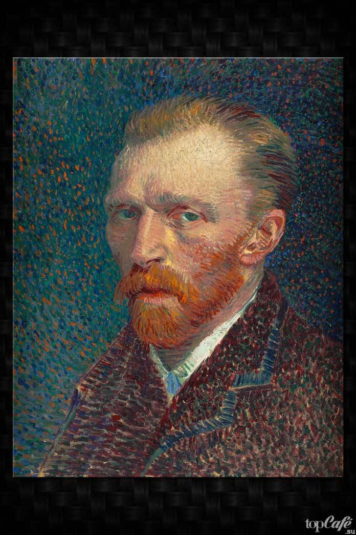 Автопортрет Ван Гога на изумрудном фоне