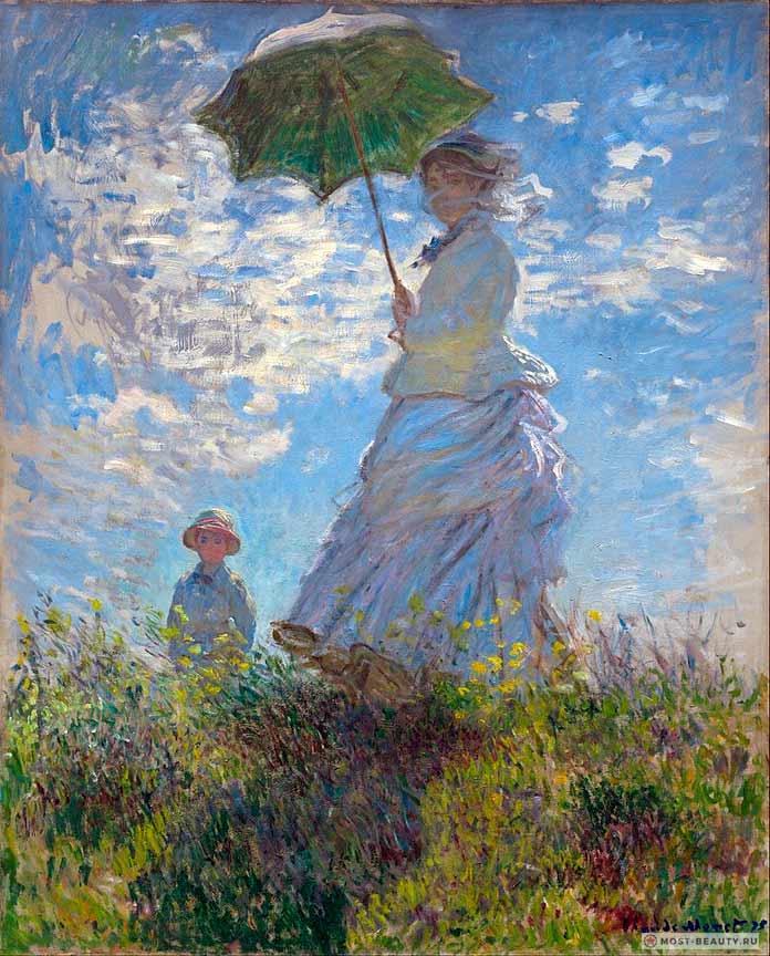 «Прогулка. Дама с зонтиком» (1875)