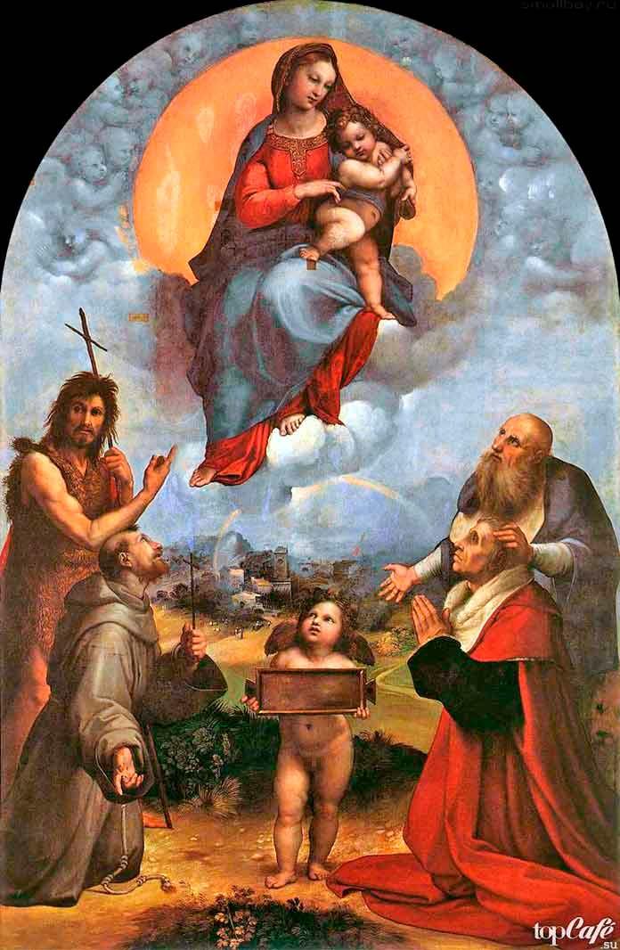 «Мадонна ди Фолиньо» (1512). Рафаэль Санти