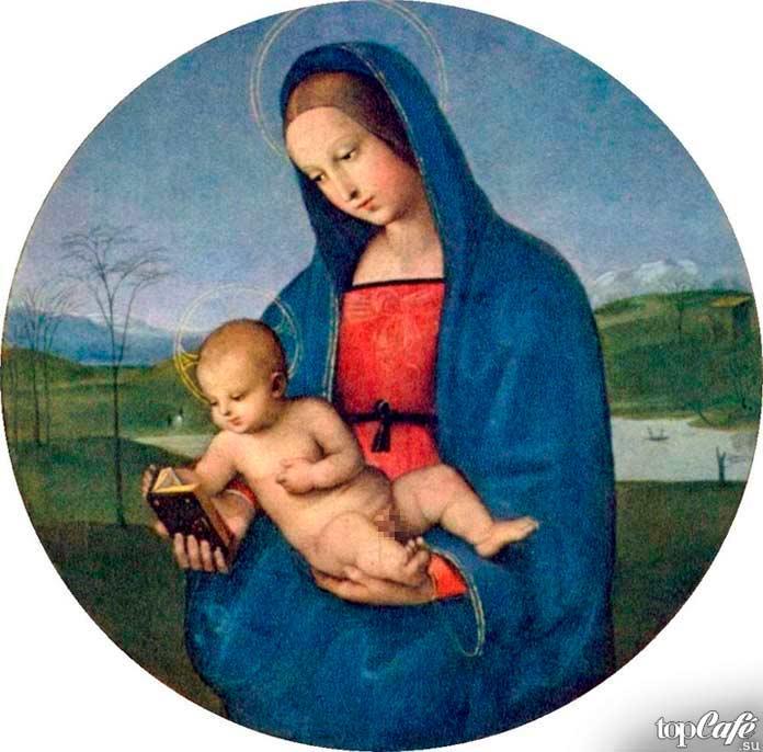 «Мадонна с младенцем» (Мадонна Конестабиле) (1502–1504). Рафаэль Санти