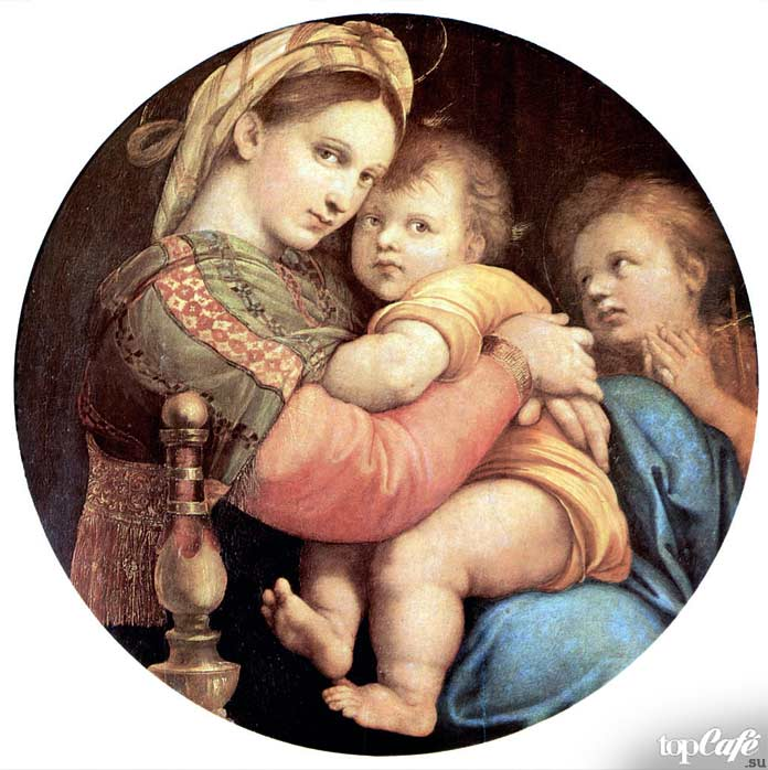 «Мадонна в кресле» (1514). Рафаэль Санти