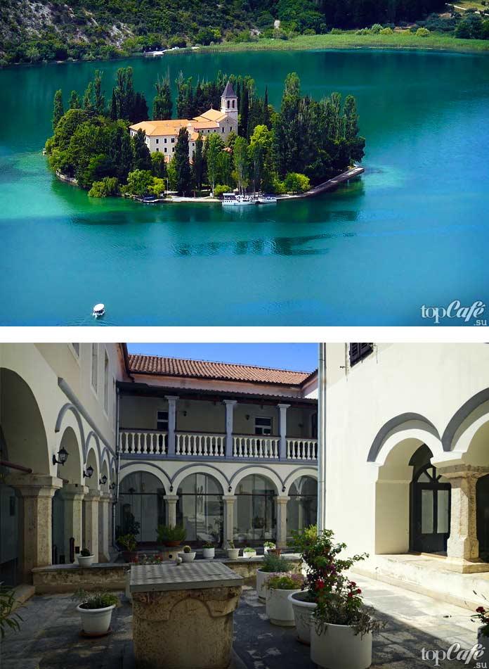 Монастырь Висовац - красивое место Хорватии