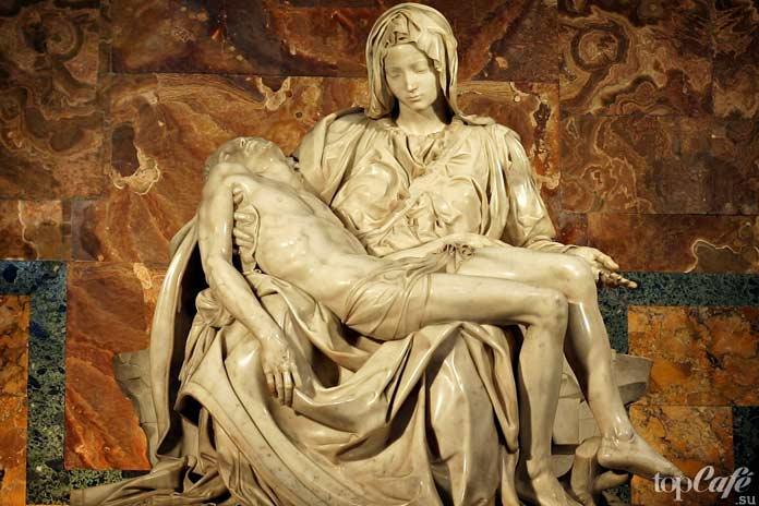 Пьета (1499). Скульптура Микеланджело Буонарроти