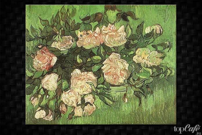 Розовые розы Ван Гога