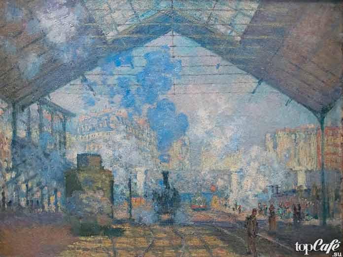«Вокзал Сен-Лазар», 1877 г. Самые известные в мире картины Клода Моне