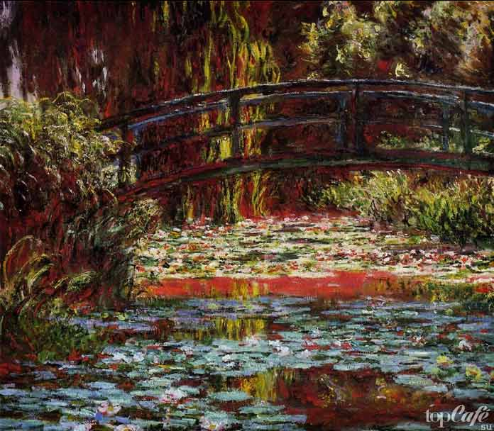 «Японский мостик» (1900) - красивая картина Моне
