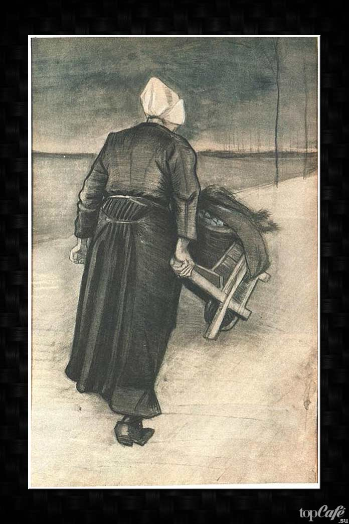 Женщина с тачкой. Ван Гог