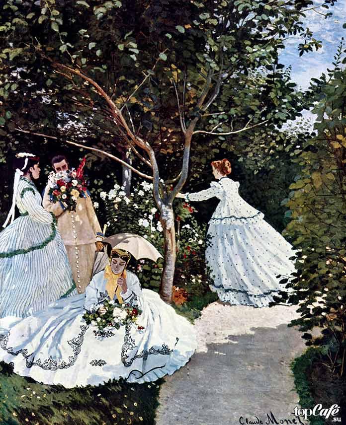 «Женщины в саду» (1866)