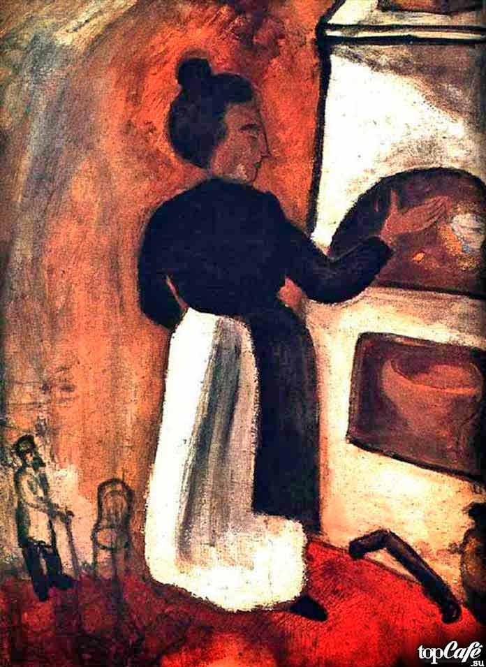Самые известные картины Шагала: Мать у печи (1914)