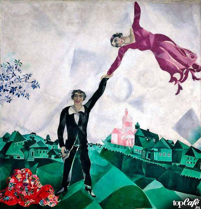 Самые известные картины Шагала: Прогулка (1918)