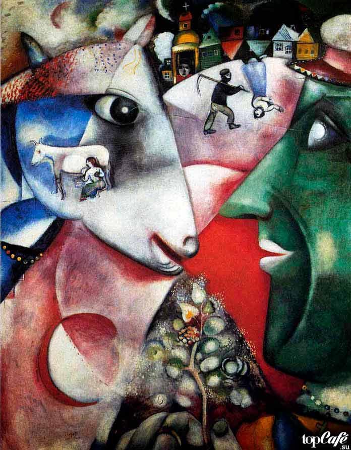 Самые известные картины Шагала: Я и моя деревня