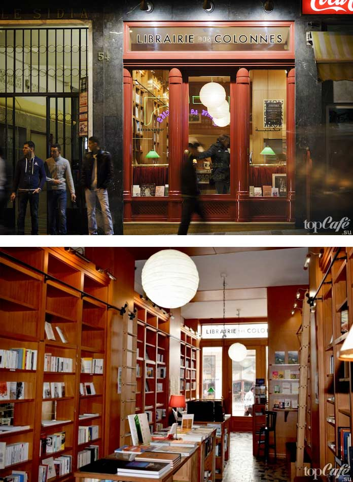 Самые известные книжные магазины: Librairie des Colonnes