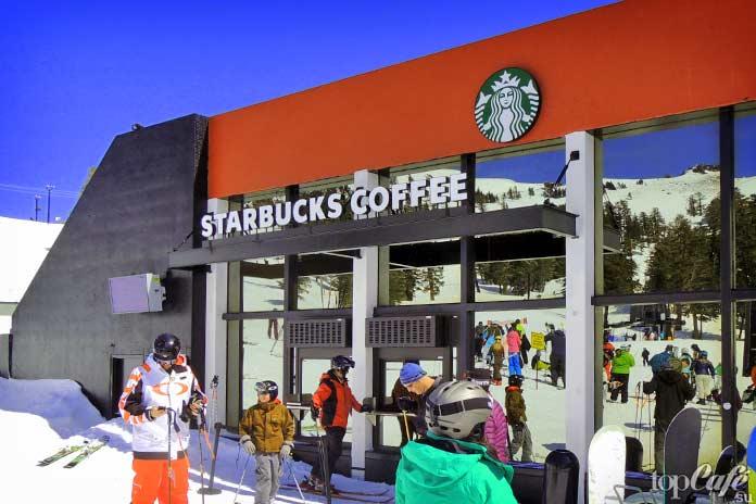 Красивые рестораны быстрого питания: Горнолыжный Starbucks