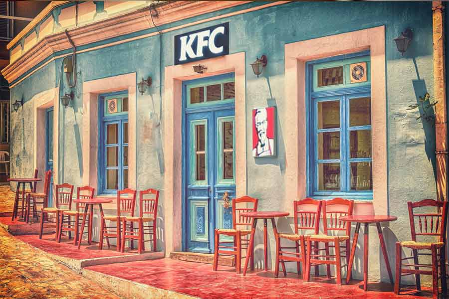 Красивые рестораны быстрого питания. CC0