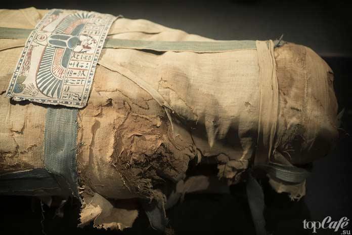 Положение рук мумии. CC0