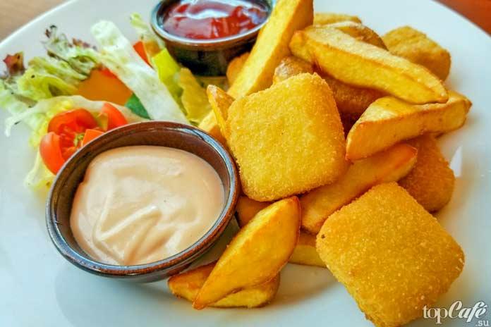 Список популярных блюд с сыром: Смаженый сыр. СС0