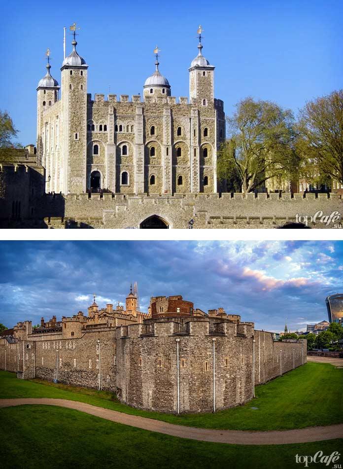 Тауэр - один из популярных средневековых замков Англии. CC0