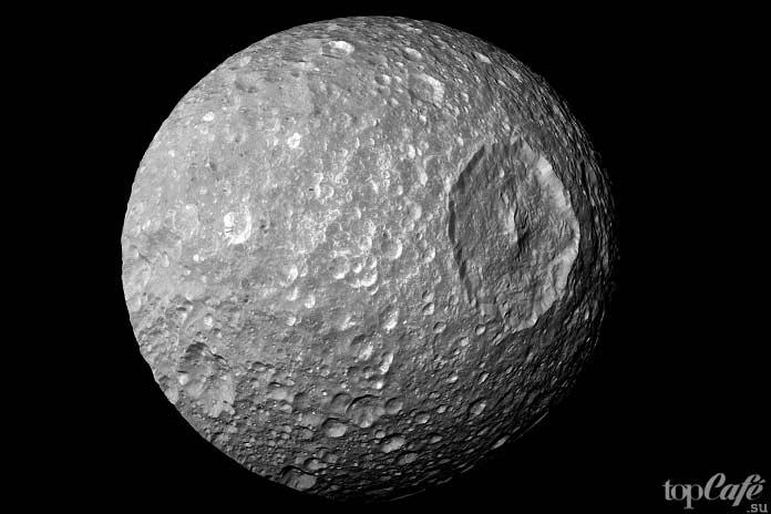 Самые необычные луны: Мимас