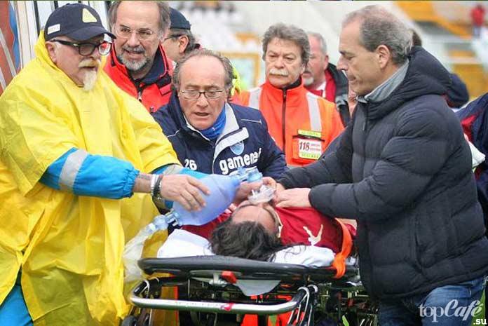 Известные футболисты, которые умерли во время матчей: Пьермарио Морозини